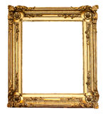 Real old antique gold frame isolated Royalty Free Stock Image