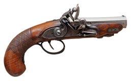 Real old flint handgun Stock Photography