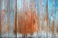 Real Old Wood Texture Vintage Background Painted in Brown and Blue Stock Photography