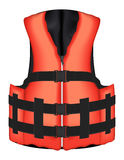 Real orange life vest jacket vector on a white background Royalty Free Stock Images