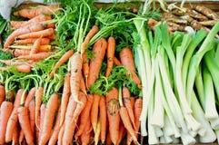 Real, organic food in an Italian market stock photos