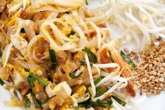 Real Pad Thai. With shrimp in Bangkok, Thailand Stock Photo