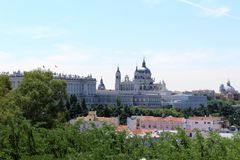 Real Palace. In Madrid Royalty Free Stock Photo