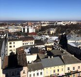 Real panorama of Ivano-Frankivsk stock image