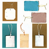 Real Paper Tags Set Stock Photo
