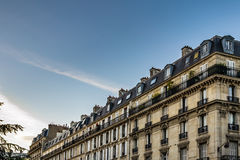 Real in Paris. Building style in Paris, France Royalty Free Stock Photo