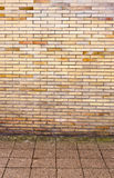 Real pavement and wall composition Stock Image