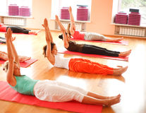 Real people doing yoga Royalty Free Stock Photo