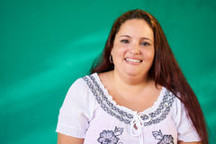 Real People Portrait Happy Overweight Hispanic Woman Laughing Royalty Free Stock Image