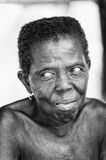 Real people in Togo (Black and white) Royalty Free Stock Image