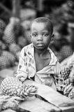 Real people in Togo (Black and white) Royalty Free Stock Photo