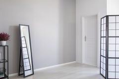 Real photo of minimal entrance hall interior royalty free stock photography