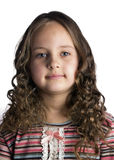 Real portrait. Close up photo of adorable six year old  girl Stock Image