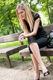 Real problems - worried young woman Royalty Free Stock Photo