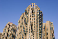 Real property in China. Lots of new modern housings are built in cities of China.Taken in Wuhan city of central China stock images