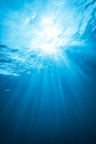 Real Ray of light from Underwater Stock Image