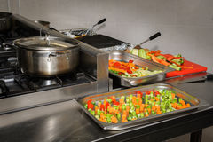 Real restaurant kitchen Royalty Free Stock Photography
