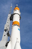 Real rocket on a launch pad. The space rocket on a launch pad Stock Photography