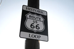 Real Route 66 Roadsign, Arizona, USA Stock Images