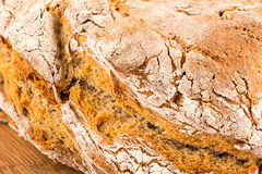 Real rustic bread. Homemade bread, some pictures gathered together royalty free stock photos