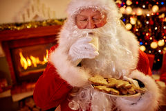 Real Santa Claus Christmas traditional served food Stock Images