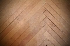 Real scratched old parquet Stock Image