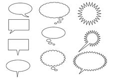 Real Simple Speech Bubbles. A collection of speech bubbles for use in graphic design and web projects Royalty Free Stock Photos
