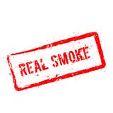 Real smoke red rubber stamp isolated on white. vector illustration