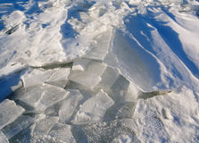 Real snow and ice. Stock Photo