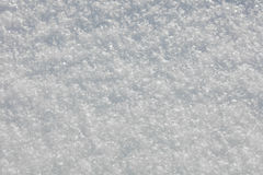 Real Snow texture background - snow-flakes crystals Royalty Free Stock Photography