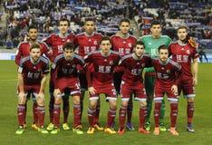 Real Sociedad lineup royaltyfri foto