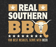 Real Southern Barbecue Emblem Royalty Free Stock Photos