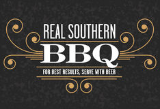 Real Southern Barbecue Emblem Stock Image