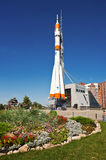 Real Soyuz spacecraft as monument Stock Photos