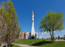 Real Soyuz type rocket Stock Image