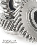 Real stainless steel gears Royalty Free Stock Photo