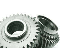 Real stainless steel gears Stock Images