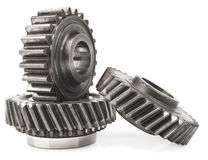 Real stainless steel gears Stock Photography
