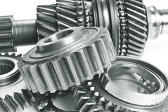 Real stainless steel gears Royalty Free Stock Image