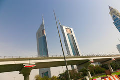 Real state, Dubai City. Dubai City towers, Emirates April 2016 stock image