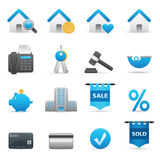 Real State Icons | Indigo Serie 01. Professional icons for your website, application, or presentation. Vector icons: illustrator and other compatible Royalty Free Stock Photo