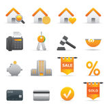 Real State Icons | Yellow 12 Royalty Free Stock Image