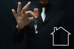 Real state. Key, for real state/house selling concept royalty free stock photos