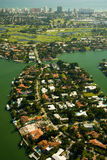 Aerial view of houses in Miami Stock Photo