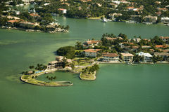 Aerial view over Miami Royalty Free Stock Photos
