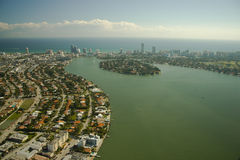 Aerial view of Miami city Royalty Free Stock Photos