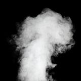 Real steam on black background. Stock Photography