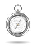 Real steel compass on a white background Stock Image