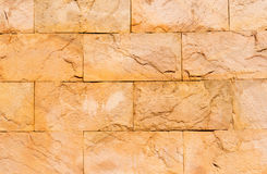 Real stone wall on cement Royalty Free Stock Photography