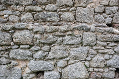 Real stone wall surface pattern gray color style design Royalty Free Stock Photos
